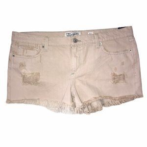 NWT Lucky Brand Tan Distressed Cut Off Short 14 32